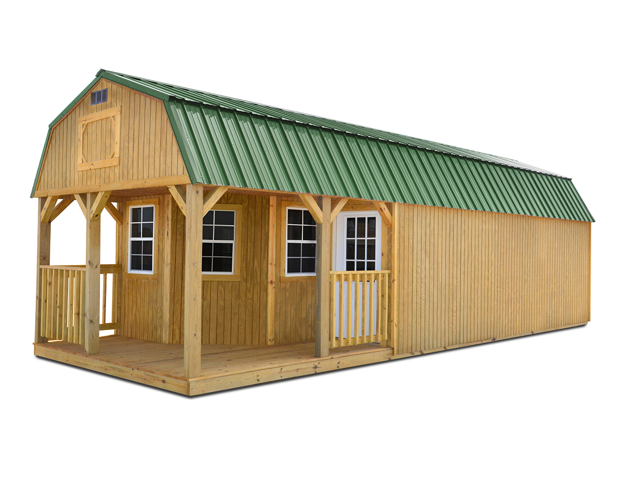 Deluxe_lofted_barn_cabin | Cotton State Barns
