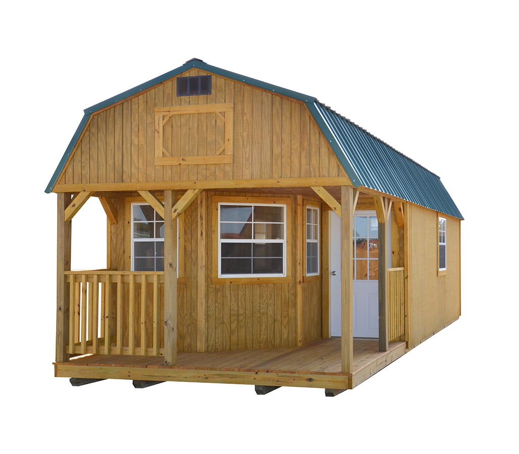 Derksen Deluxe Lofted Cabin 3 Cotton State Barns